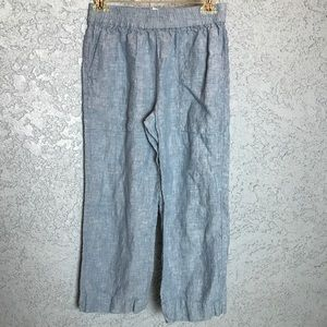 Joie Chambray Blue Loose Cropped Pants